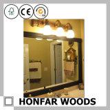 أسلوب بسيطة كبيرة حجم حمّام مرآة في إطار خشبيّة