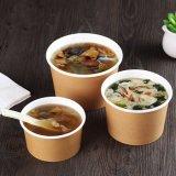 Personalizado barato Papel desechable Soup Bowl / Cuenco con tapa de masa hervida