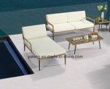 新しいデザインホテルの家具のみょうばんの&PE藤の家具によってセットされる屋外のテラスのプールの側面の家具のソファー