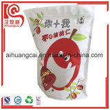 Bolso Ziplock plástico sellado cara del alimento para el empaquetado de Date&Walnut