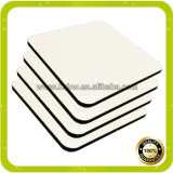 Blanks Dye Sublimation en bois imprimé MDF Coaster pour Heat Press