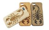 Resbalar la caja de madera verdadera del teléfono para el iPhone 7 más 6 6s