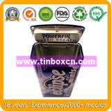 Rechteckiger tadelloser Zinn-Behälter, Metallnahrungsmitteldose, Gummi-Zinn