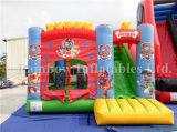 新しい到着のコンボ商業Iinflatableの足の警察のガソリン膨脹可能な城の警備員の家