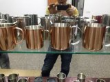 2015 Hot Selling Single Moscow Mule Copper Beer Mug