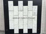 Bianco Carrara mármol blanco de azulejos de mosaico para Entrepaños de cocina y baño