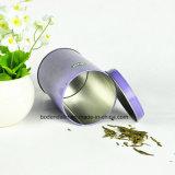Caixa redonda vazia feita sob encomenda do estanho do chá do metal