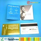 Impressão personalizada PVC Cartão de presente VIP com suporte de cartão de papel
