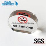 Étalage acrylique d'espace libre non-fumeurs de signe