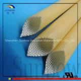 Polyurethaan Wiith van de Glasvezel van de Hittebestendigheid het Met een laag bedekte Sleeving en Acryl