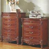 Mobília do quarto ajustada com base e o Wardrobe de madeira