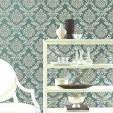 Papel pintado a prueba de humedad e impermeable de la sala de estar clásica del damasco del PVC