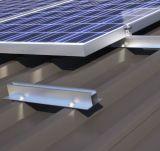 Système solaire anodisé de support de toit métallique ondulé en aluminium