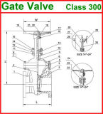 Stahl der Form-600lb flanschte Enden-Absperrschieber (GAZ40W)