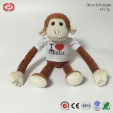 Peluche di cotone farcita molle sveglia del giocattolo animale pp della scimmia Keychain