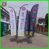 도매를 위한 옥외 광고 기털 바닷가 선전용 깃발