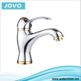 Grifo doble del lavabo de la maneta del diseño moderno del color solo (JV73701)