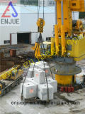 grúa marina hidráulica eléctrica de la cubierta de la nave 100t