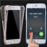 2 in 1 Dun Duidelijk Zacht VoorGeval TPU + Schokbestendige Rugdekking voor iPhone 6 6s 6 plus 6s plus het Volledige Lichaam van 360 Graad beschermen Dekking (xsdd-078)