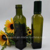 frasco de petróleo verde do frasco de vidro de petróleo 250ml verde-oliva