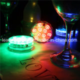 Control remoto 10 SMD bar Hookah Bar Luz en la base sumergible Luz
