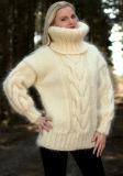 Il nuovo disegno lavora a mano il cardigan del maglione del pullover del maglione del collo del cappuccio