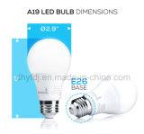 LED A19 6W 전방향성 전구, Dimmable 의 40W 동등물, 3000k는 백색, 470 루멘, 25, 000 생활 시간을 데운다