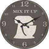 reloj de la cocina de la pared del MDF de la antigüedad de los 33.8cm (vendimia)