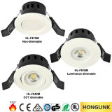 セリウムのRoHS BS476 90minsの耐火性5W 380lm 220V AC LED Downlight