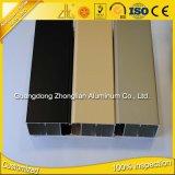6063 fábrica de aluminio anodizada de la protuberancia de la voladura de arena de T 5