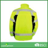 노란과 주황색 안녕 힘 사려깊은 Softshell 형광성 재킷