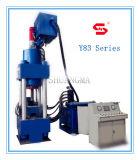 Máquina hidráulica de la prensa de enladrillar del serrín del metal Y83-250
