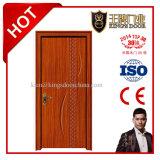 Portes intérieures de PVC en bois de forces de défense principale avec le bâti pour des salles
