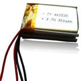 Pilha de bateria recarregável do Li-Polímero com pilha de bateria 300mAh do PCM 4X25X35mm com PCM