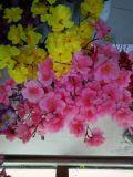 Kleiner Pfirsich sitzen Dekoration-Hand gebundene Blumenstrauss-Seide-Blume