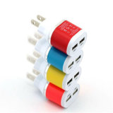 Color dual del cargador del adaptador del recorrido del USB 5 V 2A Poorten del enchufe de la UE para el iPhone 5 S 6 6lus