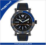 蝶バックルが付いている高品質のブレスレットの腕時計の本革ストラップ