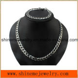Corrente grossa do aço inoxidável do diamante do fluxo da colar dos homens da jóia de Shineme (SSNL2618)