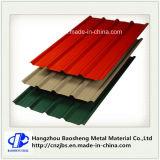 Colorir folha de aço ondulada revestida da telhadura do ferro