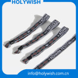 Bracelet à usage unique de bande tissé par modèle de logo de Cutom