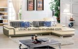 Meubles à la maison modernes de sofa en cuir noir (HX-FZ024)