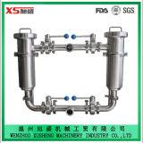 25,4 mm Ss304 Filtre filtrant angulaire avec étanchéité sanitaire avec écran perforé