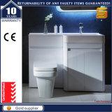 Блок шкафа ванной комнаты высокого пола лоска белого стоящий с СИД