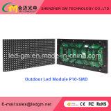 Tablilla de anuncios de LED de la publicidad al aire libre P10 usada para la venta