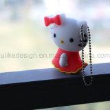 Bonjour lecteur flash USB de Kitty pour la promotion (UL-PVC001)