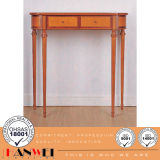 Natural Color Birch Solid Wooden Hallway Carved Console Console