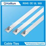 Edelstahl 304 Kurbelgehäuse-Belüftung beschichteter Selbst-Verschluss Kabelbinder für Qucikly installiert
