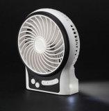 Mini ventilateur de remplissage portatif d'USB avec le vent de 3 niveaux expédier-Blanc