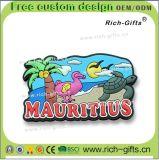 Decorazione domestica personalizzato ricordo Isola Maurizio (RC- MU) dei magneti del frigorifero del PVC dei regali