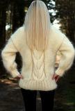 Новый кардиган свитера пуловера свитера шеи Cowl Knit руки конструкции